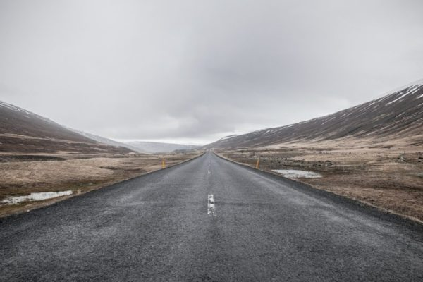 Picture of a road focusing on the journey ahead